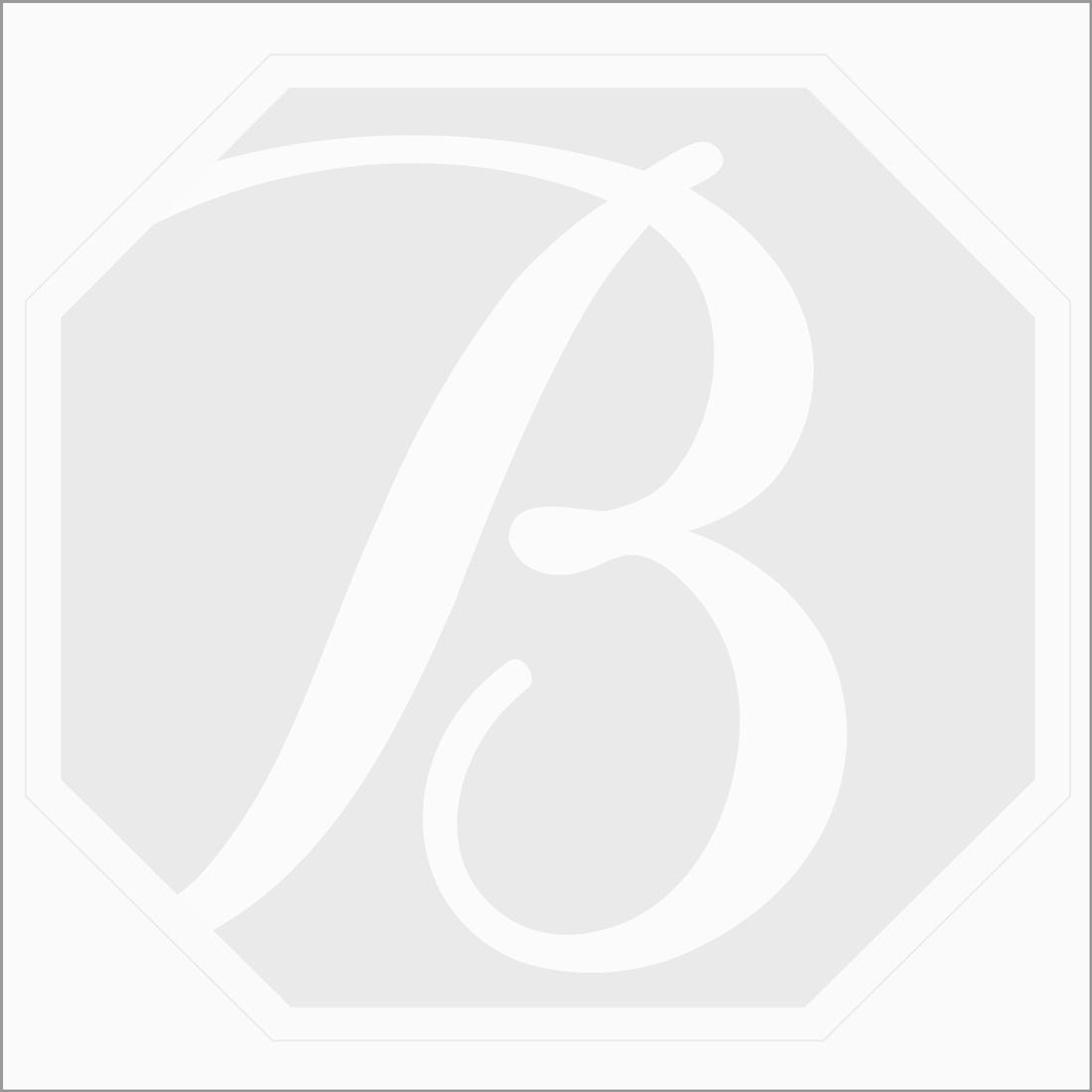 1 pcs - Dark Blue Tourmaline Rose Cut - 5.7 ct. - 17 x 11.4 x 3.5 mm (TRC1043)