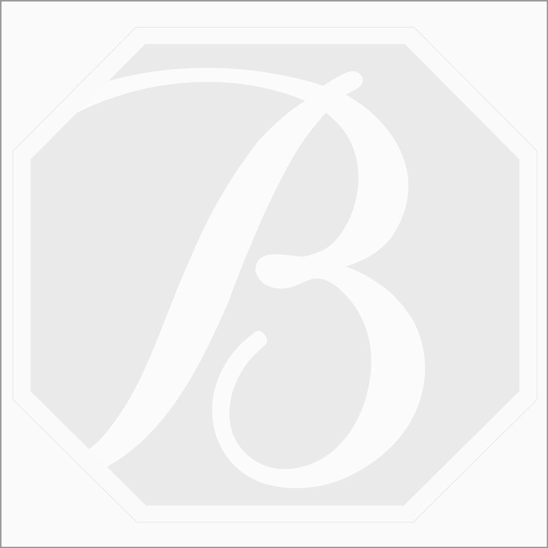 1 Pc - Dark Blue Tourmaline Rose Cut - 4.23 ct. - 13.4 x 10.3 x 3.5 mm (TRC1052)